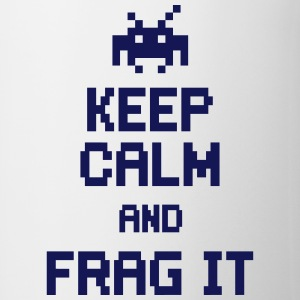 keep calm and frag it Flaskor & muggar - Mugg