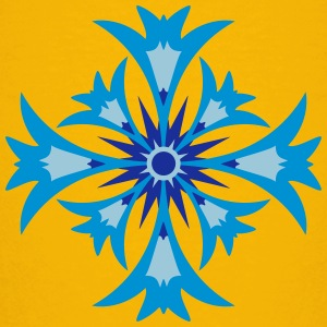A stylized blossom of cornflower Shirts - Teenage Premium T-Shirt