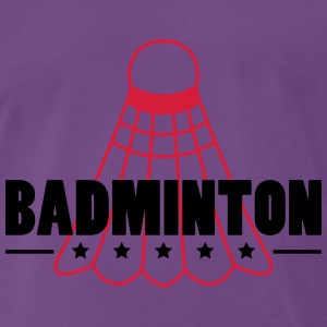 Badminton Icon T-shirts - Herre premium T-shirt