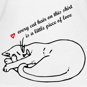 Cat curls up T-Shirts - Women's Organic T-shirt