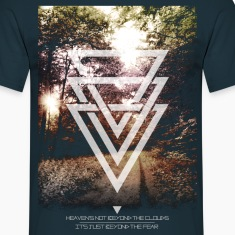mystic forest triangles Tee shirts