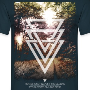 mystic forest triangles T-shirts - Mannen T-shirt