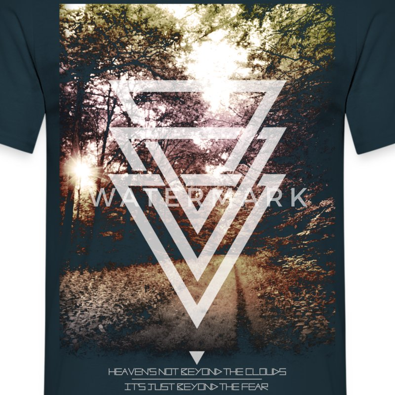 mystic forest triangles Tee shirts - T-shirt Homme