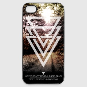 mystic forest triangles Phone & Tablet Cases - iPhone 4/4s Hard Case