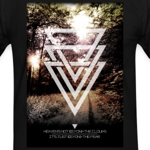 mystic forest triangles T-Shirts - Men's Ringer Shirt