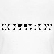 Motiv ~ Kollision Logo Girlieshirt White