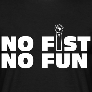 no fist no fun T-skjorter - T-skjorte for menn