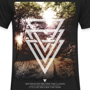 mystic forest triangles T-Shirts - Men's V-Neck T-Shirt