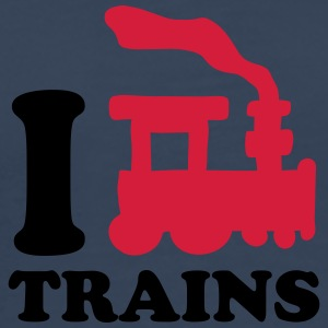I Love Trains T-shirts - Herre premium T-shirt
