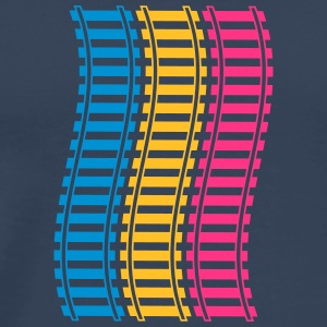 Railways Pattern T-shirts - Premium-T-shirt herr
