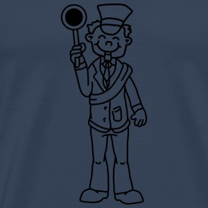 Comic Train Conductor T-Shirts - Männer Premium T-Shirt