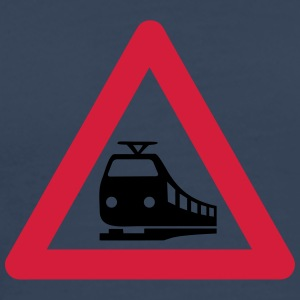Caution Train T-shirts - Premium-T-shirt herr