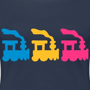 Trains T-shirts - Premium-T-shirt dam