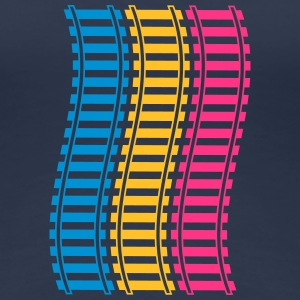 Railways Pattern T-Shirts - Frauen Premium T-Shirt