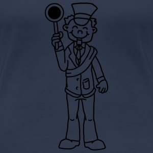 Comic Train Conductor T-Shirts - Frauen Premium T-Shirt