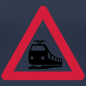 Caution Train T-shirts - Premium-T-shirt dam