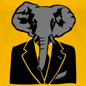 elephant costume cravate business Tee shirts - T-shirt Premium Femme
