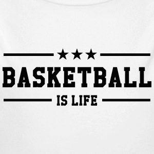 [ Basketball is life ] Sudaderas - Body orgánico de manga larga para bebé