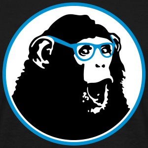 Nerdy Ape with Glasses Tee shirts - T-shirt Homme