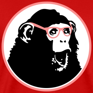 Nerdy Ape with Glasses T-Shirts - Men's Premium T-Shirt