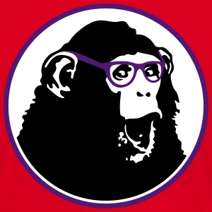 Nerdy Ape with Glasses T-shirts - T-shirt herr