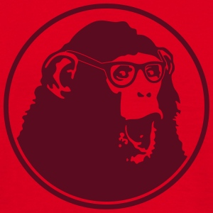 Nerdy Ape with Glasses T-shirts - Mannen T-shirt