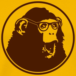 Nerdy Ape with Glasses Tee shirts - T-shirt Premium Homme