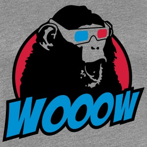 3D Glasses amazed Monkey T-shirts - Vrouwen Premium T-shirt