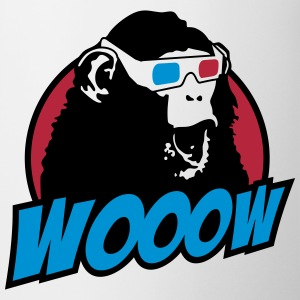 3D Glasses amazed Monkey Flaschen & Tassen - Tasse