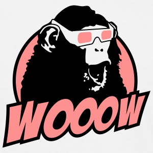 3D Glasses amazed Monkey T-Shirts - Männer T-Shirt