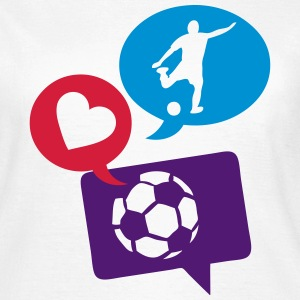 football soccer bulle love bubble 1 Tee shirts - T-shirt Femme