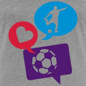 football soccer bulle love bubble 1 Tee shirts - T-shirt Premium Femme