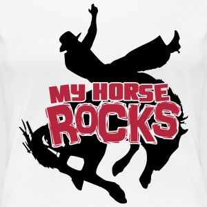 My horse rocks T-Shirts - Frauen Premium T-Shirt