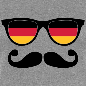 german mustache glasses nerd - like a sir T-shirts - Vrouwen Premium T-shirt