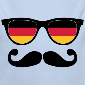 german mustache glasses nerd - like a sir Sweaters - Baby bio-rompertje met lange mouwen