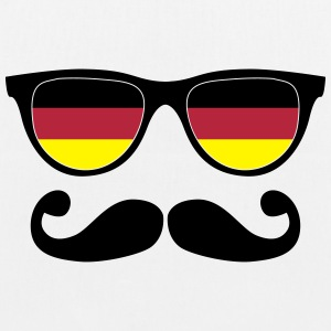 german mustache glasses nerd - like a sir Bags & backpacks - EarthPositive Tote Bag