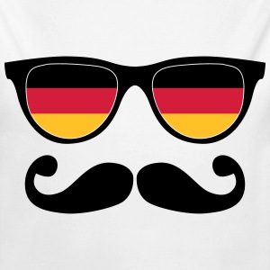 german mustache glasses nerd - like a sir Pullover & Hoodies - Baby Bio-Langarm-Body