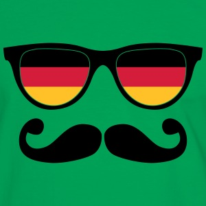 german mustache glasses nerd - like a sir T-shirts - Kontrast-T-shirt herr