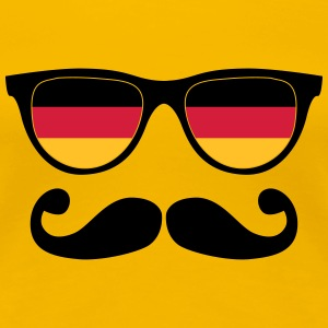 german mustache glasses nerd - like a sir T-Shirts - Women's Premium T-Shirt