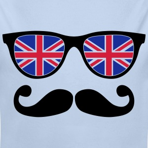 english mustache glasses nerd - like a sir Hoodies - Longlseeve Baby Bodysuit