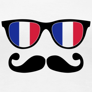 french mustache glasses nerd - like a sir T-Shirts - Women's Premium T-Shirt