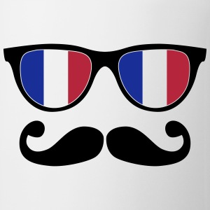 french mustache glasses nerd - like a sir Flaschen & Tassen - Tasse