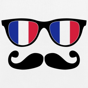 french mustache glasses nerd - like a sir Bags & backpacks - EarthPositive Tote Bag