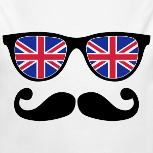 english mustache glasses nerd - like a sir Sweaters - Baby bio-rompertje met lange mouwen
