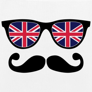 english mustache glasses nerd - like a sir Bags & backpacks - EarthPositive Tote Bag