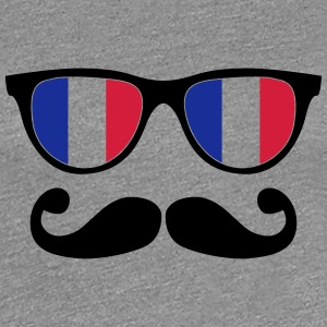 french mustache glasses nerd - like a sir Tee shirts - T-shirt Premium Femme