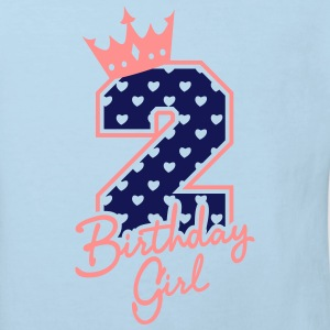 Zweiter Geburtstag-Second Birthday-Birthday Girl T-shirts - Ekologisk T-shirt barn