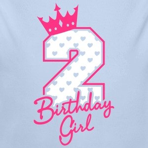 Zweiter Geburtstag-Second Birthday-Birthday Girl Pullover & Hoodies - Baby Bio-Langarm-Body