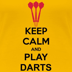 Keep Calm And Play Darts T-shirts - Premium-T-shirt dam