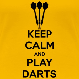 Keep Calm And Play Darts Camisetas - Camiseta premium mujer